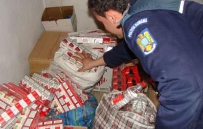 contrabanda de tigari politist