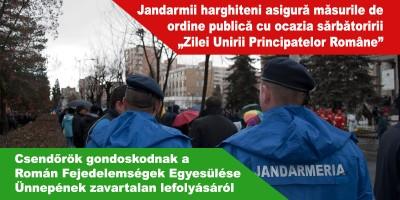 Csendőrök-gondoskodnak-a-Román-Fejedelemségek-Egyesülése-Ünnepének-zavartalan-lefolyásáról