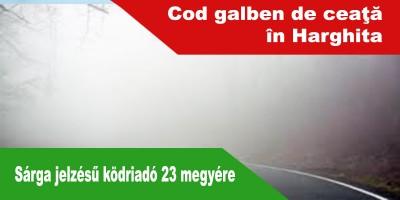 Cod-galben-de-ceaţă-pentru-23-de-judeţe-din-ţară